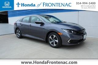 New 2020 Honda Civic LX Sedan 2HGFC2F64LH575339 for Sale in St. Louis