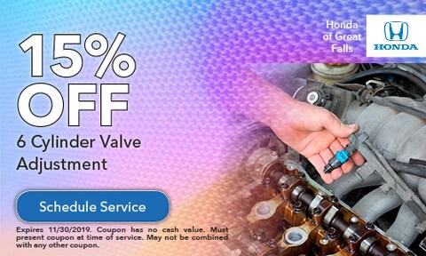 15% Off 6 Cylinder Valve Adjustment