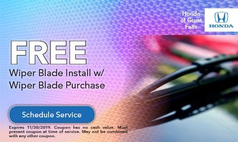 Free Wiper Blade Install w/ Wiper Blade Purchase