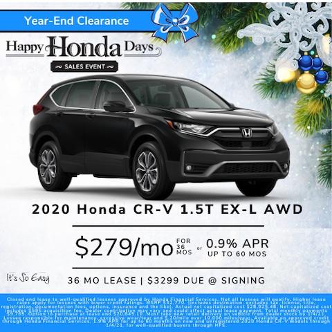 CRV EX-L Money Down Lease