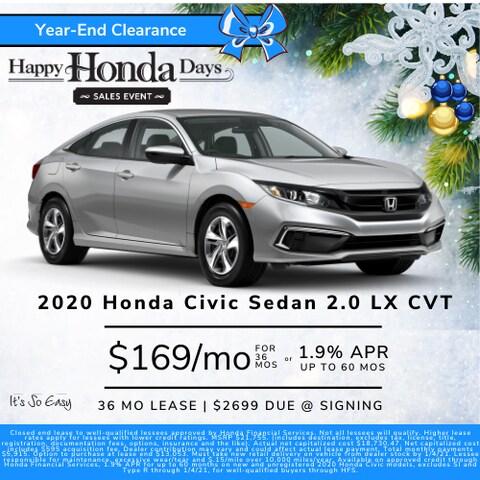 Civic LX Money Down Lease