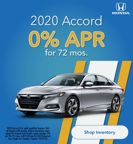 Oct - 0% for 72 on Accord