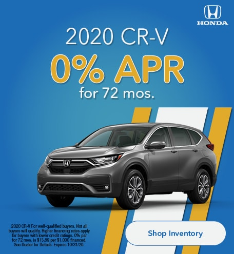 Oct - 0% for 72 CR-V
