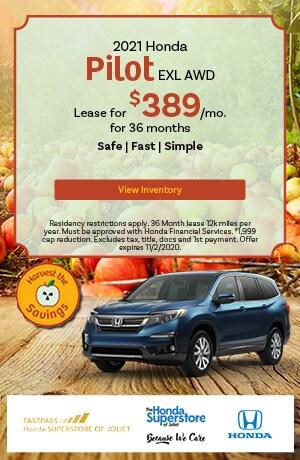 October   2020 Honda Pilot EXL AWD   Lease