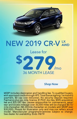 2019 CR-V Offer - June
