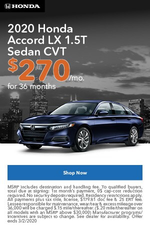 January | 2020 Honda Accord LX | Lease