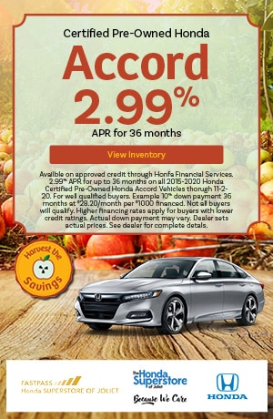 October | 2015-2020 Honda Accord | 2.99% APR