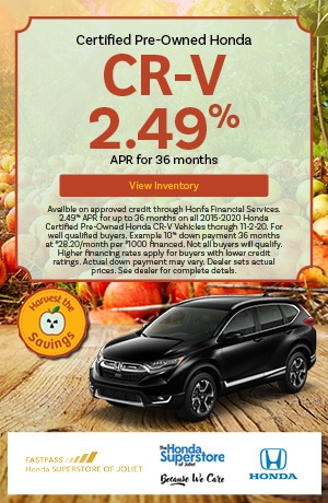October | 2015-2020 Honda CR-V | 2.49% APR