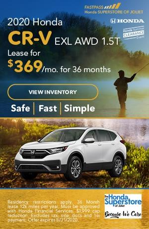 July | 2020 Honda CR-V EXL AWD 1.5T | Lease