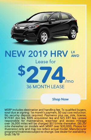 2019 HR-V Offer - June