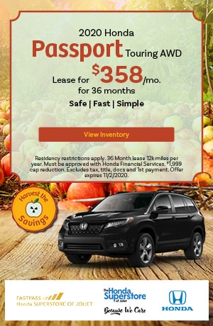 October   2020 Honda Passport Touring AWD   Lease