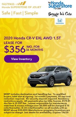 June | 2020 Honda CR-V EXL AWD 1.5T | Lease