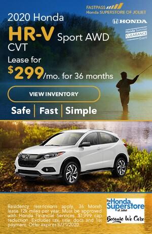 July | 2020 Honda HR-V Sport AWD CVT | Lease