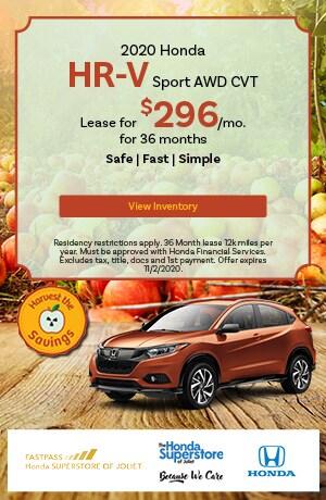 October   2020 Honda HR-V Sport AWD CVT   Lease