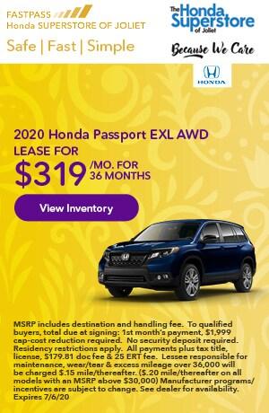 June | 2020 Honda Passport EXL AWD | Lease