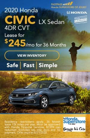 July | 2020 Honda Civic LX Sedan 4DR CVT | Lease