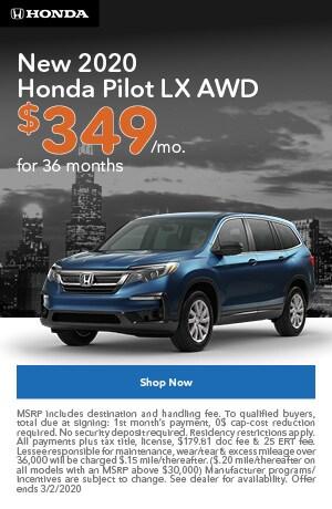 January | 2020 Honda Pilot LX | Lease