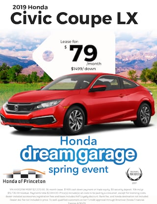 Lease 2019 Civic LX Coupe for $79/Month