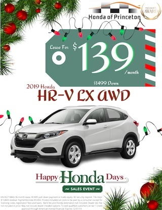 Lease new HR-V for just $139/month