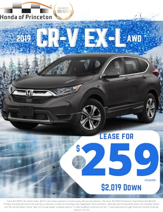 Lease new CR-V EXL for just $259!