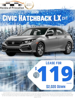Lease new Civic Hatchback for just $119!