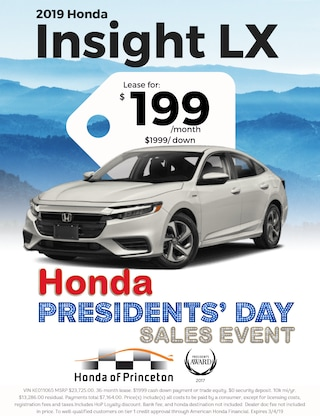 Lease 2019 Insight LX Sedan for $199/Month