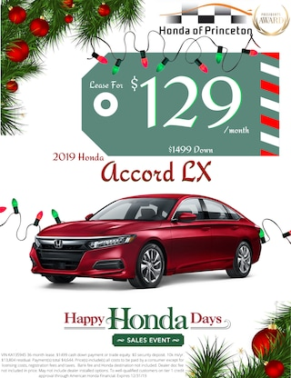 Lease new Accord for just $129/month