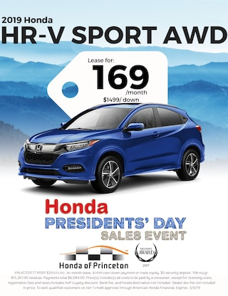 Lease 2019 HR-V Sport AWD for $169/Month