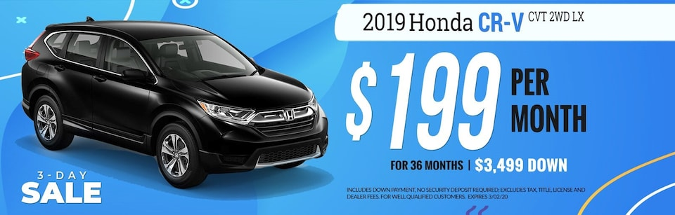 2019 Honda CR-V $199 Per Month