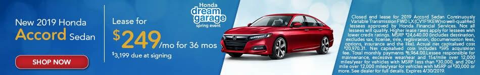 2019 Honda Accord - April