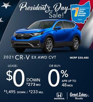 2021 Honda CR-V Feb. Offer