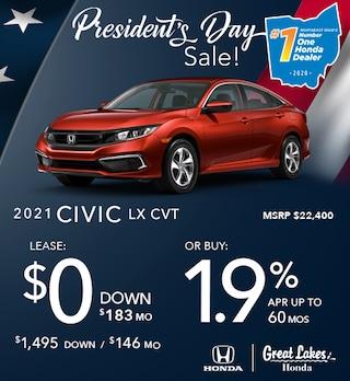 2021 Honda Civic Feb. Offer