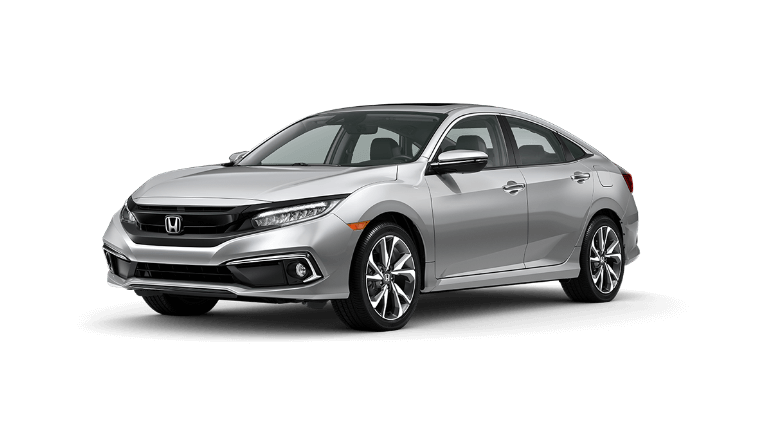 2020 Honda Civic Touring in silver