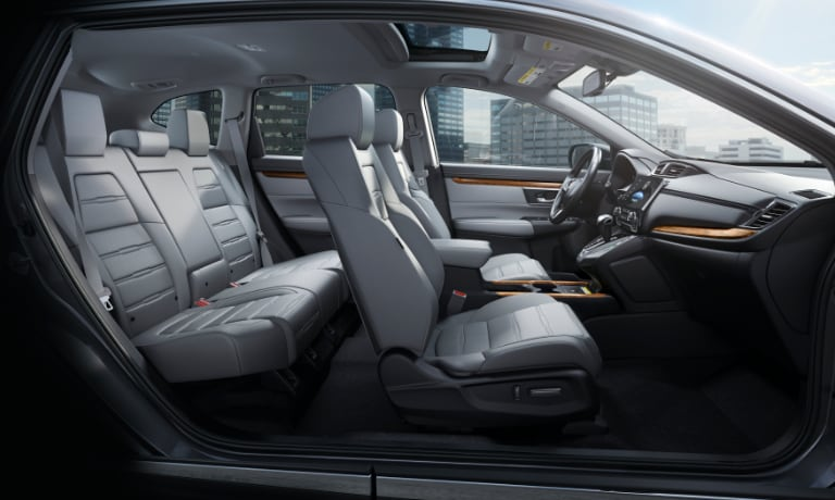 2020 Honda CR-V interior side view showig the seating from passanger side