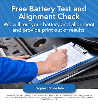 Free Battery Test and Alignment Check