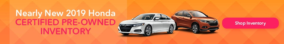 Nearly New 2019 Honda Certified Pre-Owned Inventory