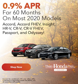 0.9% APR For 60 Months On Most 2020 Models