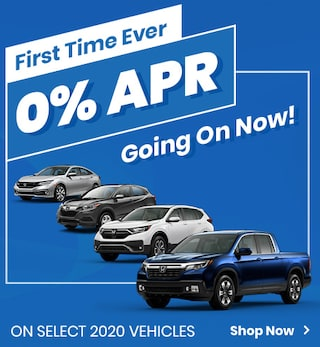 First Time Ever! 0% APR Going On Now On Select 2020 Vehicles!