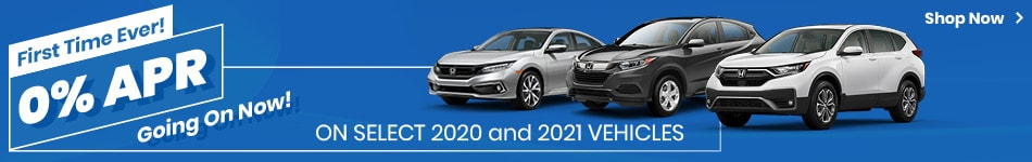 0% APR On Select 2020 and 2021 Vehicles