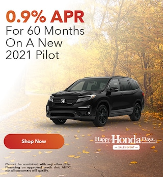 0.9% APR For 60 Months On A New 2021 Pilot