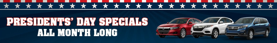 Presidents' Day Specials All Month Long