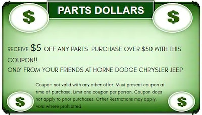 $5 Off Any Parts Order Of $50 Or More!