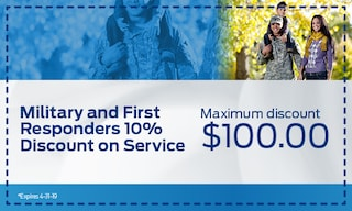 Military and First Responders 10% Discount on Service