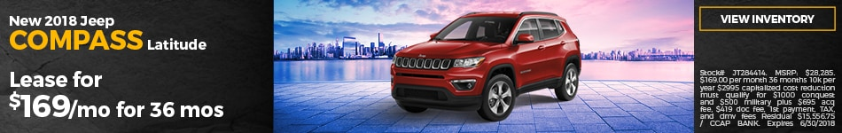New 2018 Jeep Compass Lease Offer
