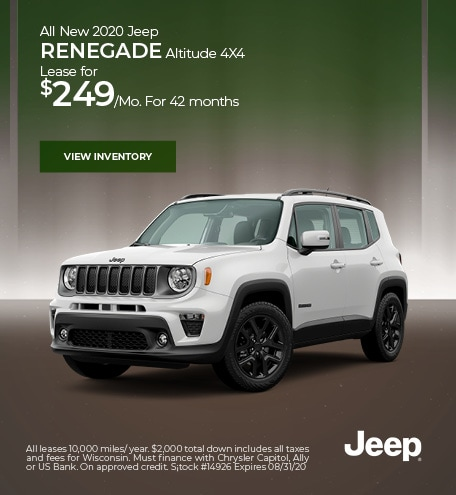Jeep Lease Deals Finance Specials In Hudson Wi Hudson Cdjr