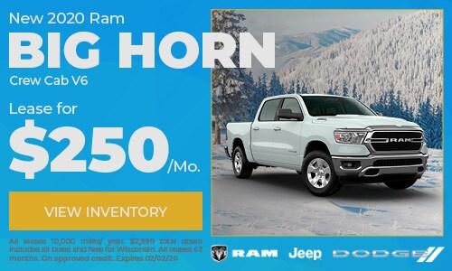 New 2020 Ram 1500 Big Horn Crew Cab V6