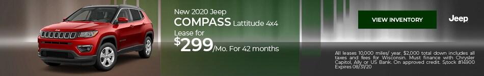 New 2020 Jeep Compass Lattitude 4x4