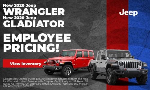 May 2020 Jeep Wrangler & Gladiator Employee Pricing