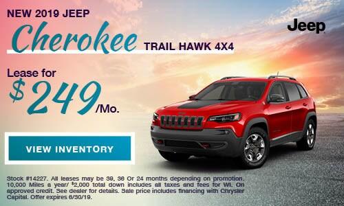 2019 Jeep Cherokee TRAIL HAWK 4X4