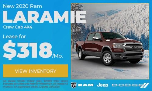 New 2020 Ram 1500 Laramie Crew Cab 4X4